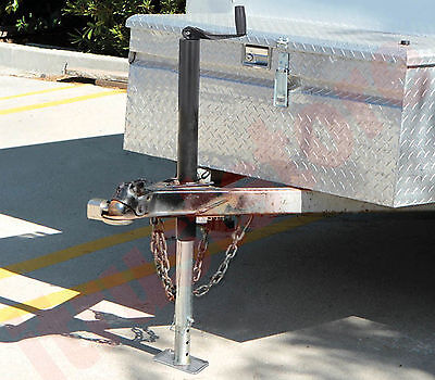 A Frame Trailer Lift Jack Tongue Stand Drop Leg Bolt Or Weld On Mount 2000 Lb