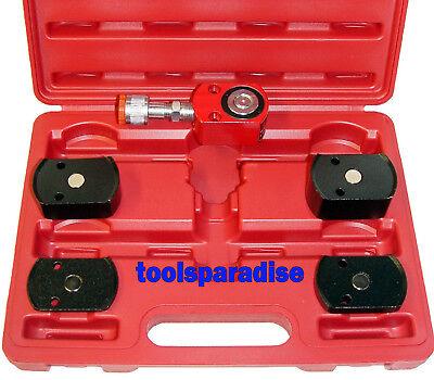 Hydraulic 5-ton Short Ram Kit Magnetic Adapters Base Porta Power Jack Tool