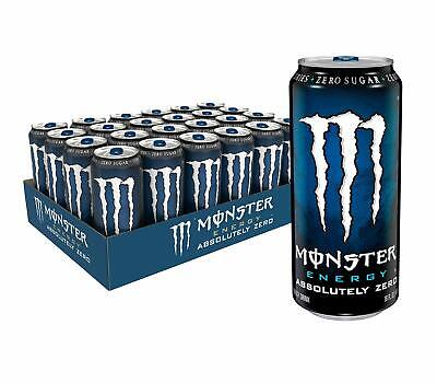 Monster Energy Absolutely Zero, Low Calorie Energy Drink, 16 Ounce (Pack of - 24 Pack Of Monster