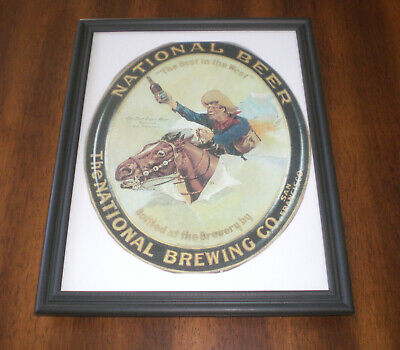 NATIONAL BEER BEST IN THE WEST FRAMED AD PRINT - NATIONAL BREWERY  SAN