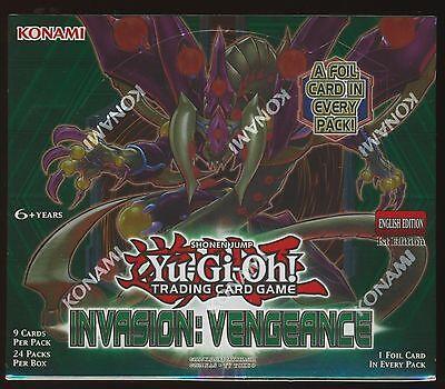 Yu-Gi-Oh Invasion: Vengeance 1st Edition U.S English SEALED Booster Box Yugioh