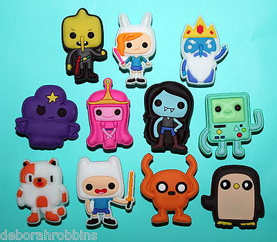 Adventure Time Shoe Decorations 11 Cake Toppers Party Favours Finn Jake Dog NEW