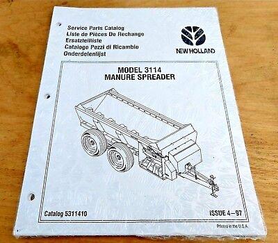 New Holland 3114 Manure Spreader Parts Catalog Manual Nh