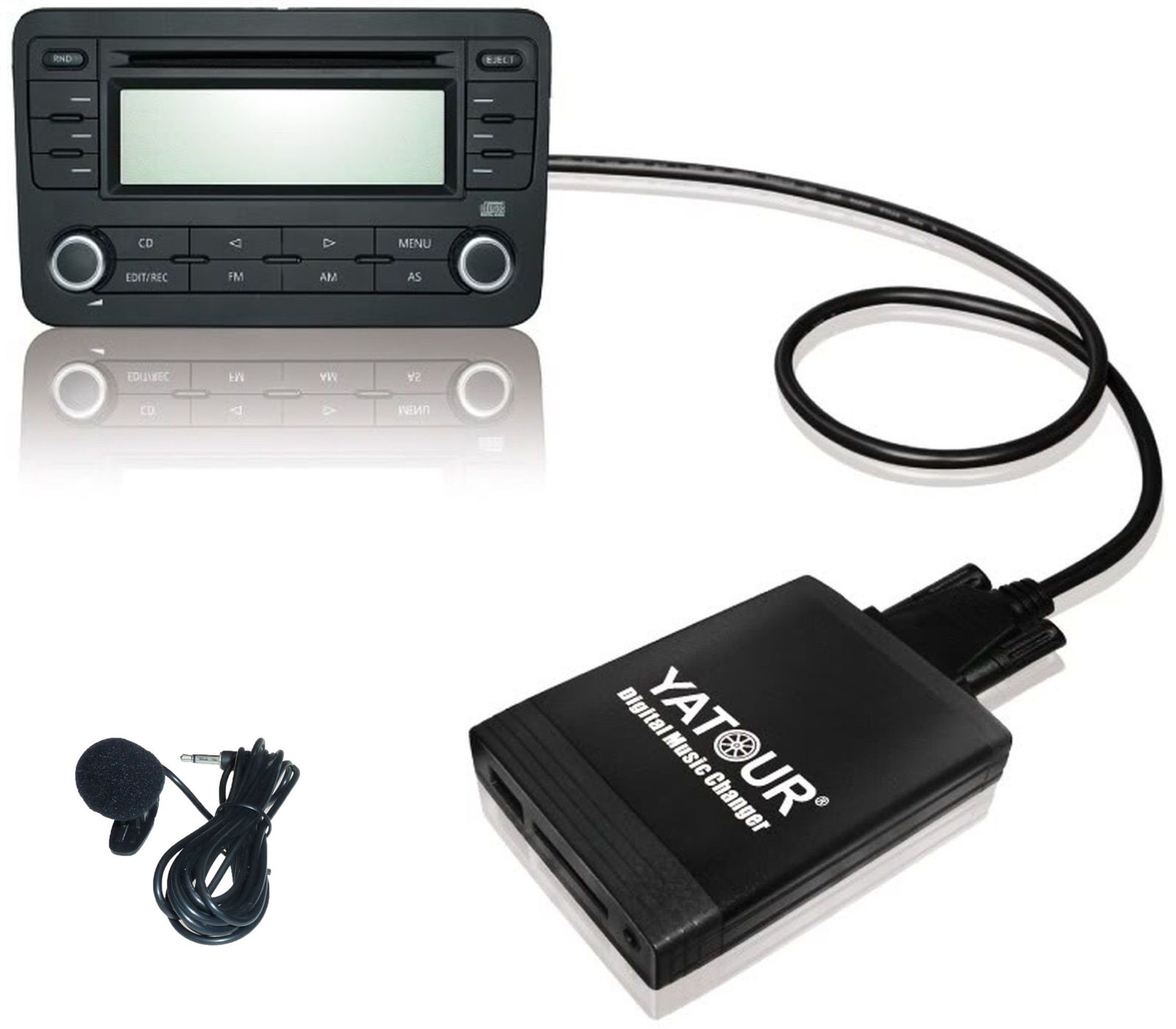 Adapter Usb Sd Aux Mit Bluetooth: AUX Adapter Bluetooth BT Interface USB SD MP3 CD VW 12pin
