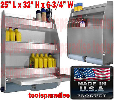 Auto Garage Trailer Wall Mount Aluminum Organizer Foldable Table Shelves Cabinet