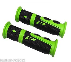 Coppia-Manopole-Verde-Nero-Manubrio-Bici-MTB-City-Bike-Fixed-PROGRIP