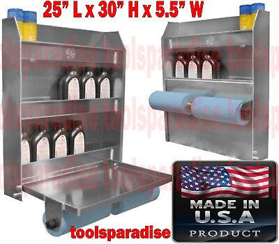 Auto Garage Trailer Wall Mount Aluminum Organizer Foldable Tray Shelves Cabinet