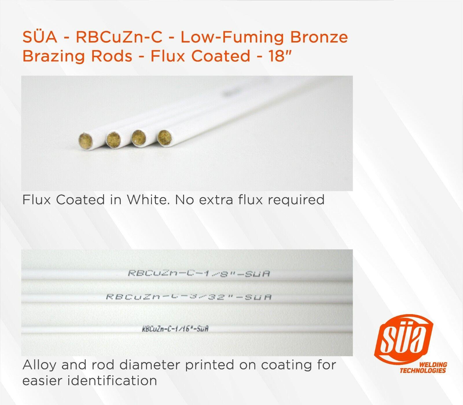 LFB Flux Coated Bronze Brazing Rod RBCuZn-C 39 x 1//16 1 Lb