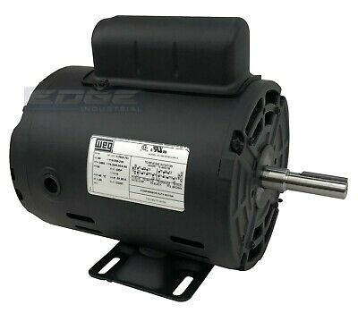 1 Hp Air Compressor Electric Motor 56 Frame 3480 Rpm Single Phase Weg New
