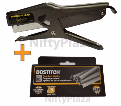 B8 Stapler 02245 Plier Staple Gun and 5000 Staples BRAND NEW FREE SHIP Genuine