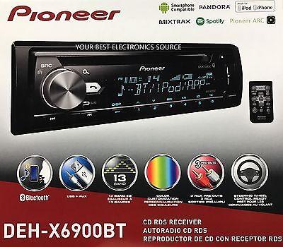 NEW Pioneer DEH-X6900BT CD/MP3/WMA w/ Bluetooth Audio & Variable Illumination