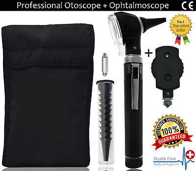 Fiber Optic Otoscope Ophthalmoscope Led Ent Diagnostic Examination Kit Ce Uk