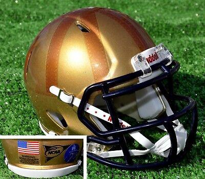 - Notre Dame Irish 2017 Rockne Heritage Custom Riddell Speed MINI Football Helmet