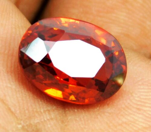 Natural Red Garnet Spessartine 14.85 Ct Oval Shape Loose Gemstone Bright Color