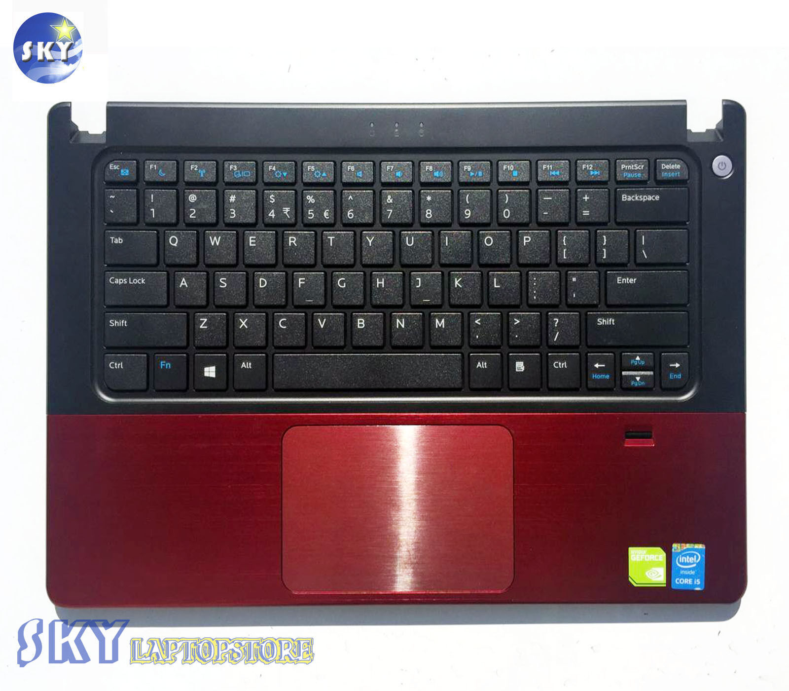 US Keyboard + TopCase Palmrest + Touchpad For DELL VOSTRO V5