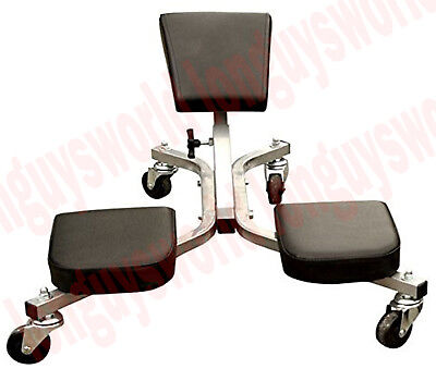 ROLLING Work Seat Knee Pads Saver Flooring Mechanics Creeper Roller