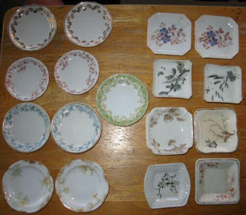 Lot 17 Antique Butter Pats,T&V Limoges,Haviland,Catherine Mermet,John Maddock