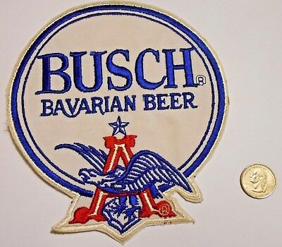 "Busch Bavarian Beer Patch Embroidered Ale 7-3/4"" inch  Eagle"
