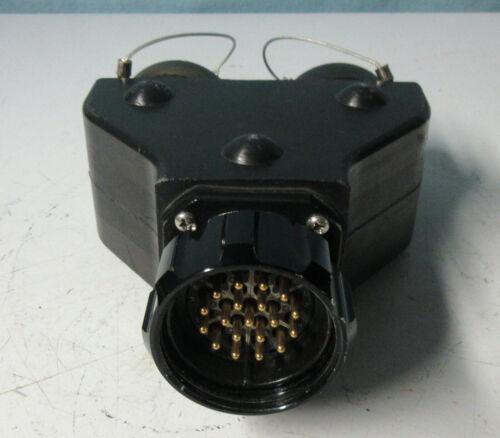 19 Pin Molded Socapex Y Split Splitter Twofer New