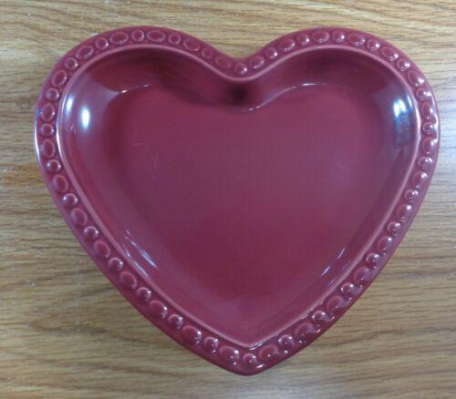 Longaberger Pottery PAPRIKA HEART DISH