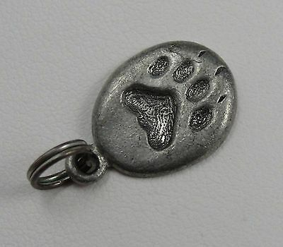 Dog Print Charm, Pet Charm, Sterling Silver, .925, Pendant, #C149