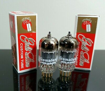 Genalex Gold Pin Lion Reissue 6922 Brand New Matched Pair 2 E88CC Tubes