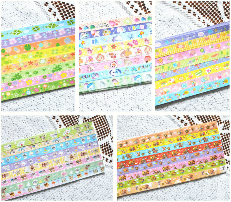 128 Pieces Cartoon Lucky Star Origami Folding Paper, Good Deal!  US SELLER!