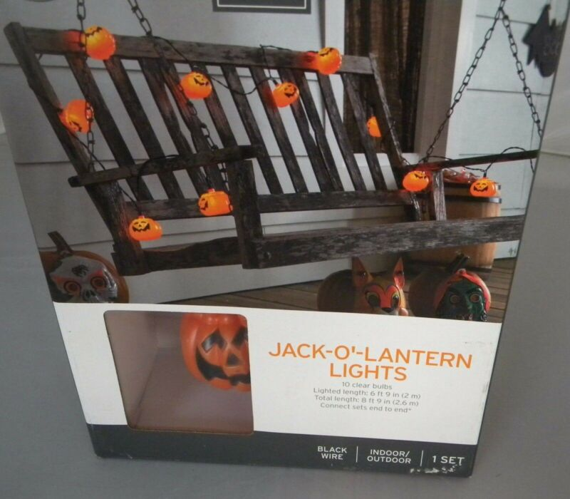 Halloween Pumpkin Jack-o-lantern Lights--10 cnt