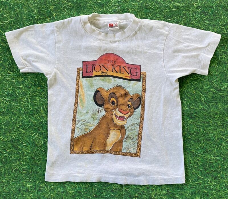 VTG The Lion King Simba Disney Movie Promo T Shirt 1990s Youth Boys Small (6-8)