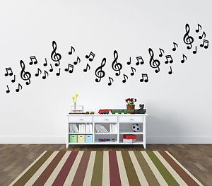 Musical Notes Wall Stickers 54 Pack Home Car Ebay