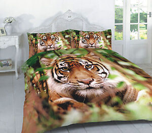 luxury 3d tiger animal skin print duvet cover with. Black Bedroom Furniture Sets. Home Design Ideas