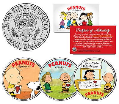 noopy Lucy Patty Charlie Brown JFK Half Dollar US 3-Coin Set (Patty Valentine)