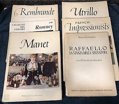 ABRAMS ART BOOKS LOT MANET/REMBRANDT/UTRILLO/1943 RAFFAELLO ETC PORTFOLIOS