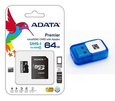 Adata 64GB MICRO SD XC SDXC MEMORY CARD CLASS 10 FOR GO PRO HD HERO 3 CAMCORDER