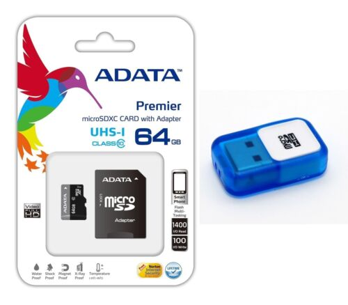 64GB MicroSD Class 10 SDHC 64 GB Memory Card Adapter Android
