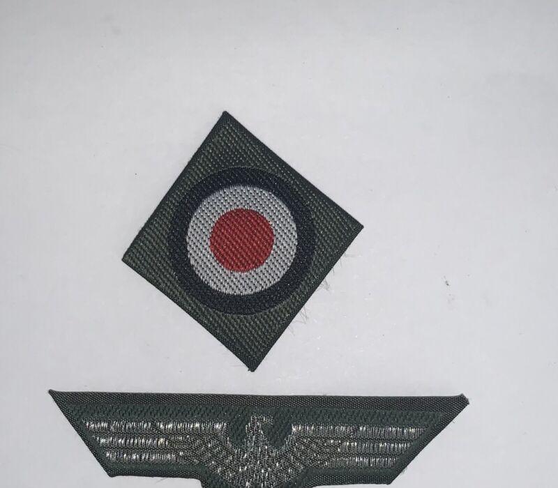 Folded Repro Officer German Bevo ATF  Heer  Cap Insignia Eagle And Cockade