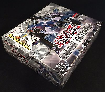Yu-Gi-Oh! Shining Victories 1st Edit Sealed Booster Box Konami, 24 packs/9 cards