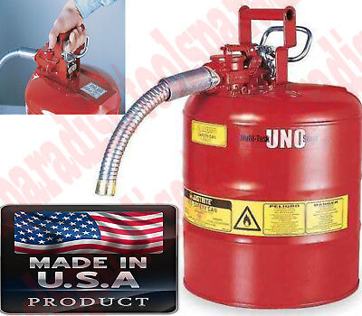 Flammable Liquid Gas Safe Tank Can Dispenser Self-closing Lid Safety Spout Can