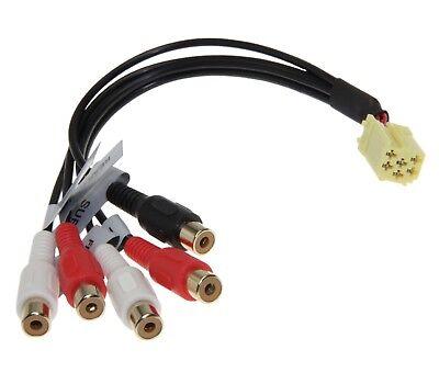 Line Out 5x Cinch Adapter Subwoofer für VW Audi Seat Becker Blaupunkt