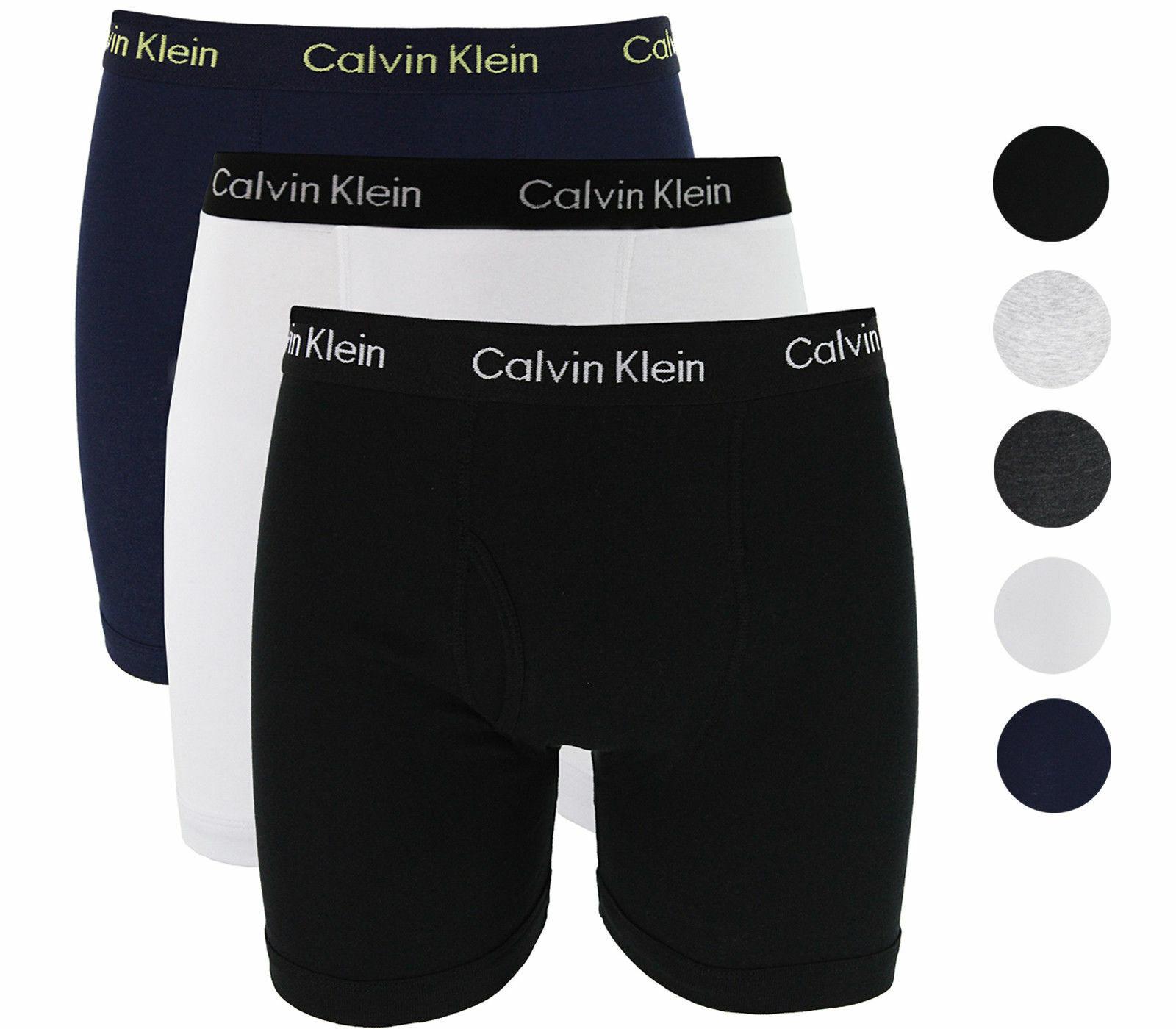 Calvin Klein 3 Pack Mens Underwear Boxer Briefs Classic Fit