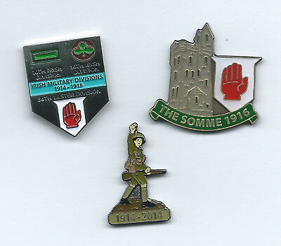 BRITISH ARMY WW1 /Somme  3 x Tie Pins  STOCK CLEARANCE  PICA(NI)