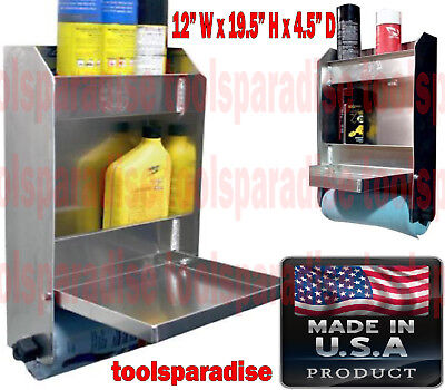 Auto Garage Trailer Wall Mount Aluminum Organizer Tool Storage Shelves Cabinet