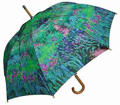 "48"" Monet Secret Garden Auto-Open Umbrella -RainStoppers Rain/Sun UV Fashion"