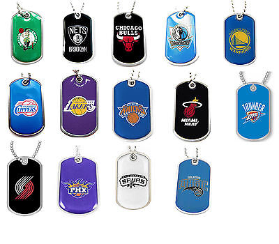 dog tag necklace NBA PICK YOUR TEAM not a cheap gumball machine tag - Cheap Gumball Machine