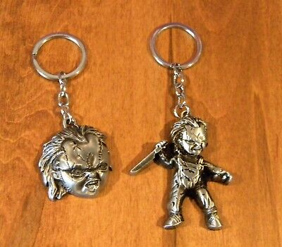 Chucky Doll Child's Play Horror Keychain Set of Two