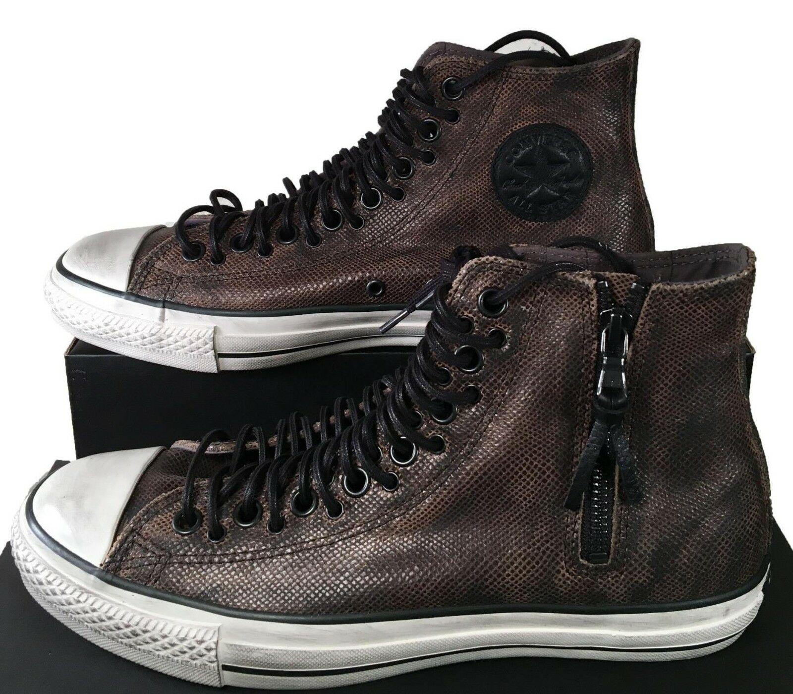 Converse by John Varvatos Chuck Taylor Multi Lace Brown Leather Sneaker  150165C 83493d37db