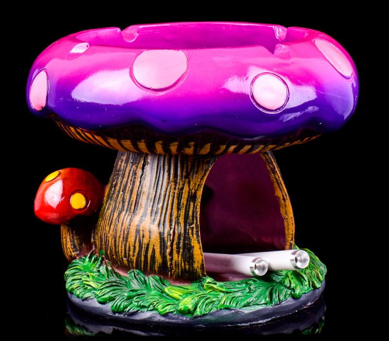 PINK Mushroom Ashtray GIRLY STORAGE Compartment PORTABLE Novelty *USA*