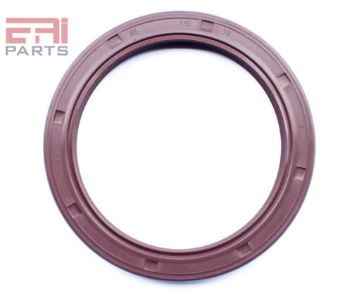 EAI Viton Oil Shaft Seal 85x110x12mm Grease Dbl Lip w/ Stainless Steel Spring