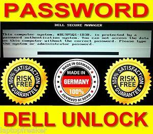 Dell 1D3B Passwort System Admin BIOS Password löschen Latitude Unlock Secure WOW