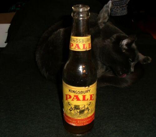 Early Kingsbury Pale 12 Ounce Beer Bottle, Sheboygan Wisconsin